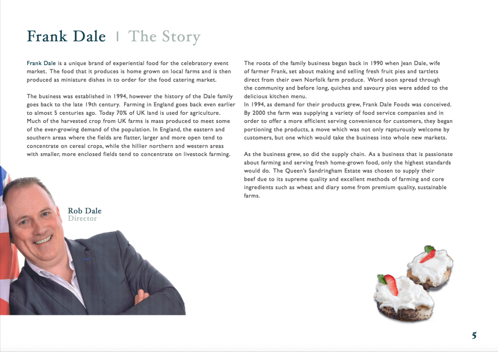 Frank dale brochure cover story